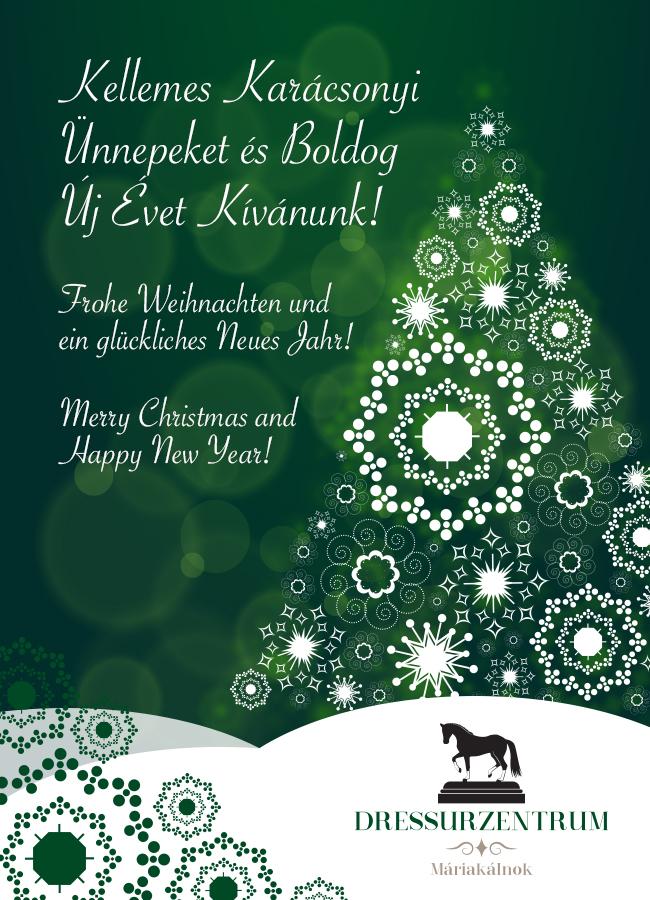 Frohe Weihnachten Ungarisch.Boldog Karacsonyt Dressurzentrum Hu